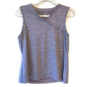REI Gray Athletic Workout wrap tank top size Large